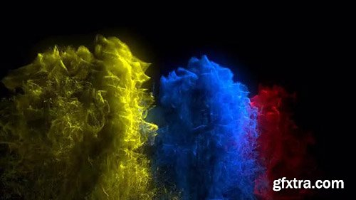 Tri-Color Reverse Ink Drops Background - Motion Graphics 141331