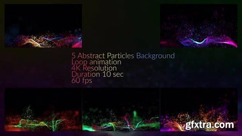 Particles In Waves Background Pack - Motion Graphics 138490