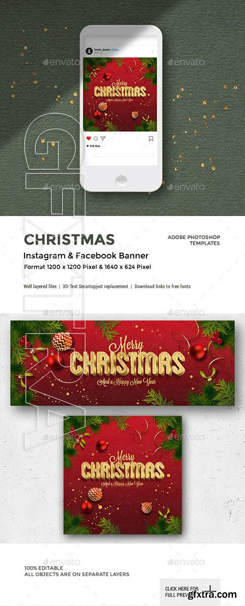 GraphicRiver - Christmas Facebook and Instagram Banner 22902441