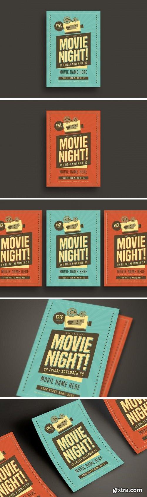 CM - Retro Movie Night Flyer 3256068