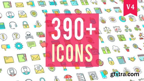 Videohive Icons Pack 390 Animated Icons 20235601