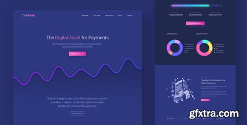 ThemeForest - Cryptocurrency Saas Landing Page Template - Coindash v1.0 - 23005187