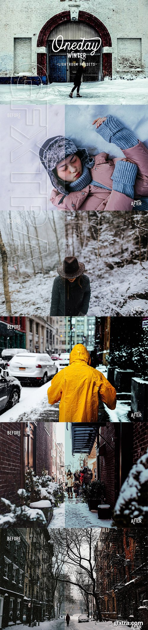 CreativeMarket - Oneday Winter Lightroom presets 2148764