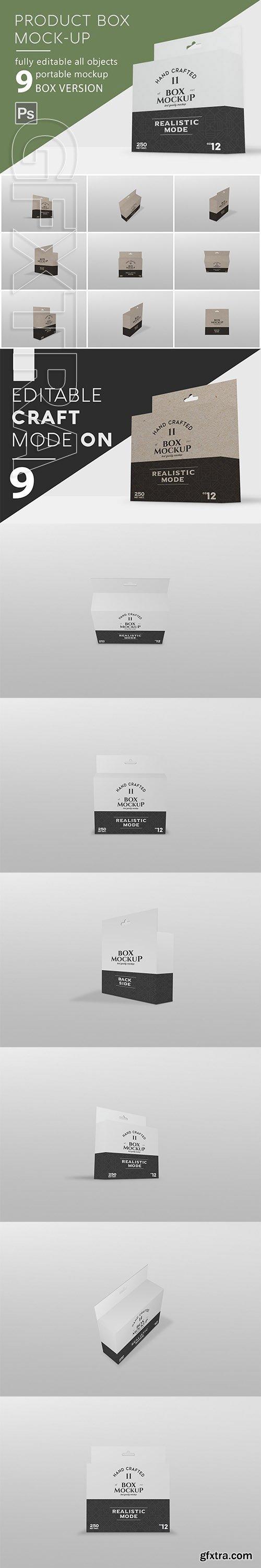 CreativeMarket - Branding Box Mockup 2944354
