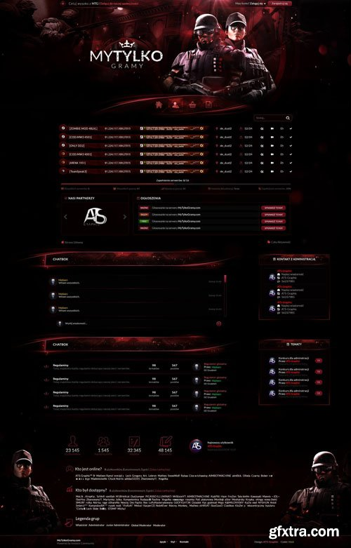 MTG Red v1.0.1 - Gaming Theme for IPS Community Suite 4.3