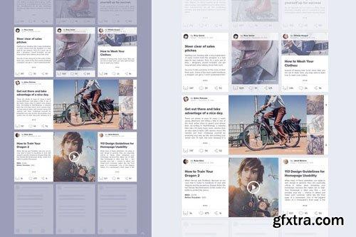 Creative Blog - Wireframe