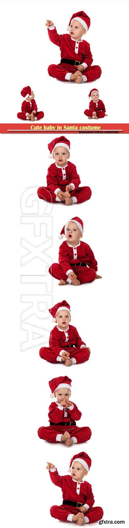 Cute baby in Santa costume