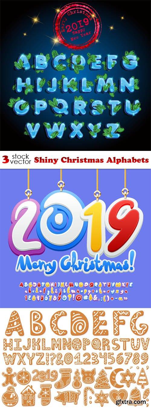 Vectors - Shiny Christmas Alphabets
