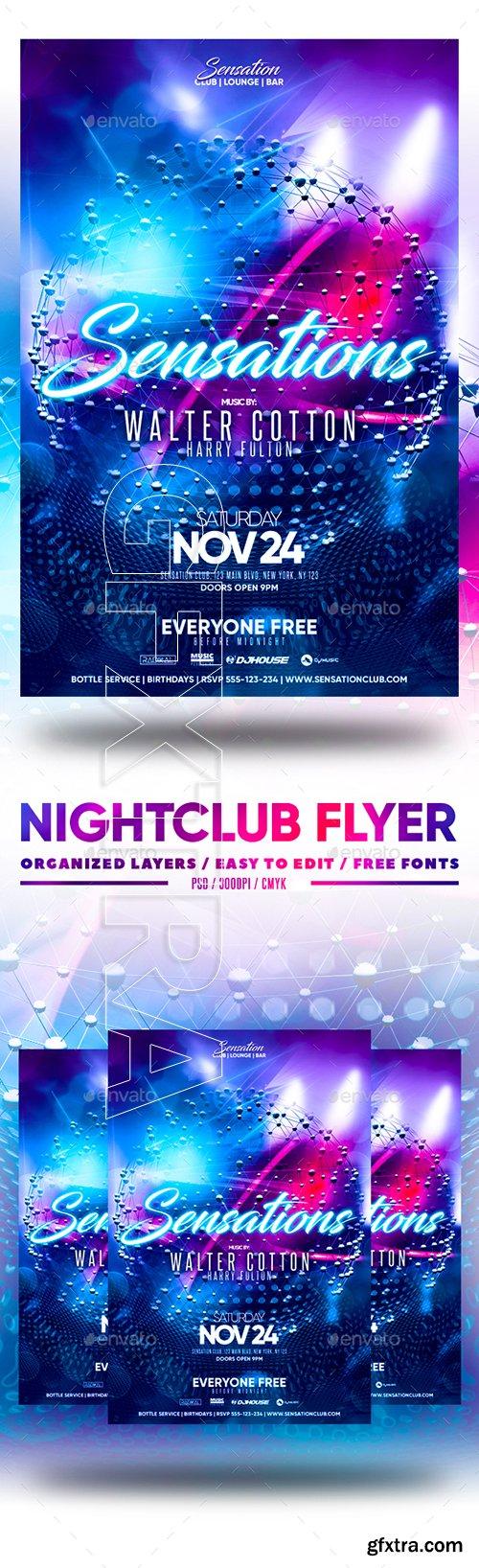 GraphicRiver - Nightclub Flyer 22876292