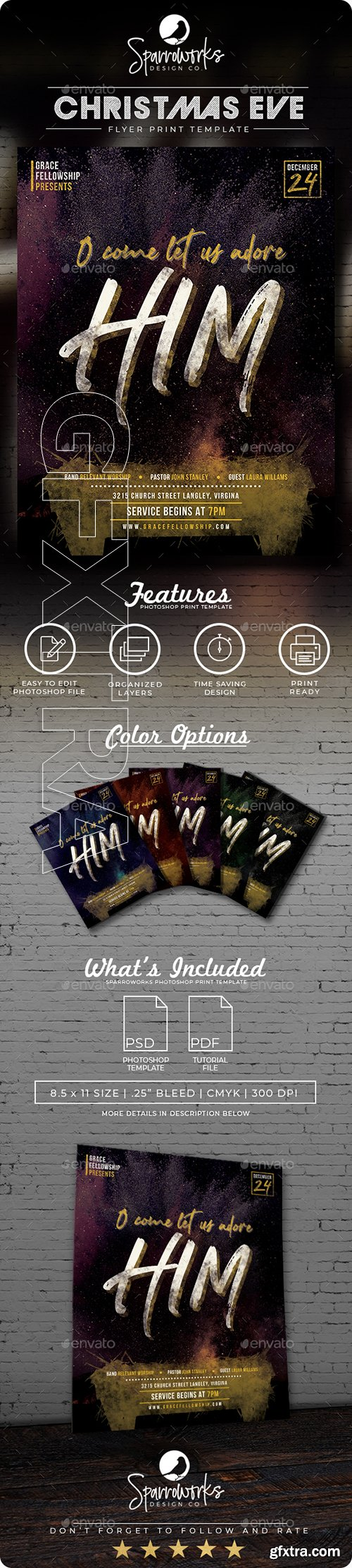 GraphicRiver - O Come Let Us Adore Him Holiday Flyer Template 22875964