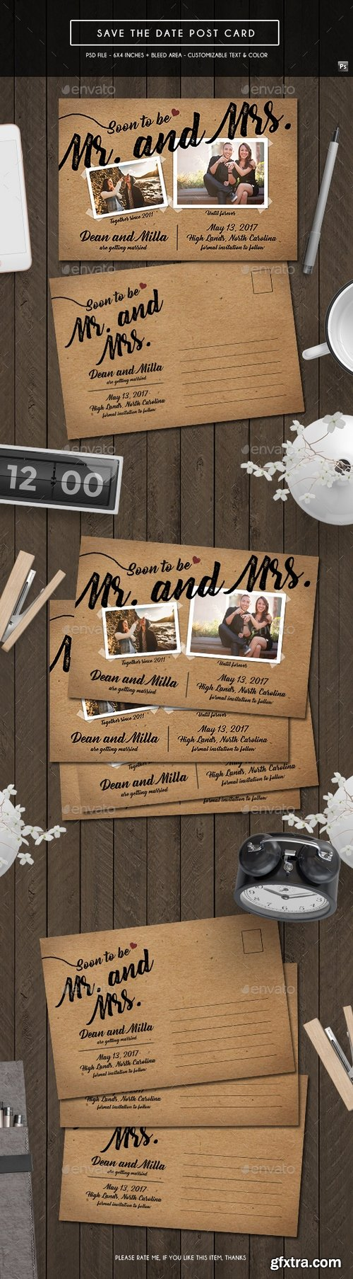 Graphicriver - Save the Date Post Card 19337197