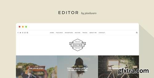 ThemeForest - Editor v1.5.2 - A WordPress Theme for Bloggers - 11404349