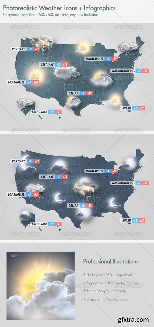 Graphicriver - Photo Realistic Weather Icons Set 2938495