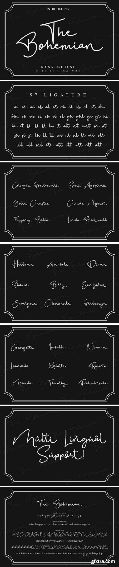 Fontbundles - The Bohemian - a Signature Font 179116