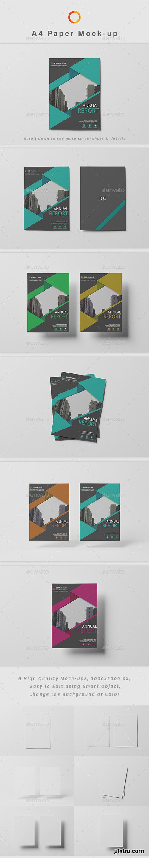 A4 Paper Photoshop Mock-up 22910038