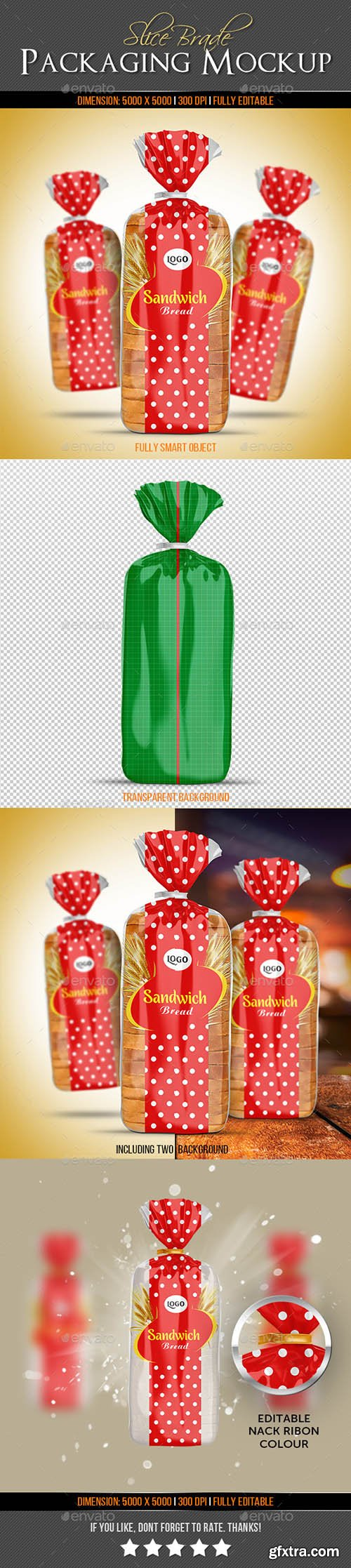 Slice Bread Packaging Mock-Up 22922839