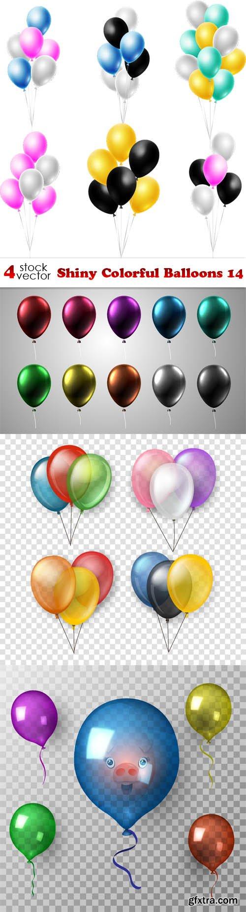 Vectors - Shiny Colorful Balloons 14