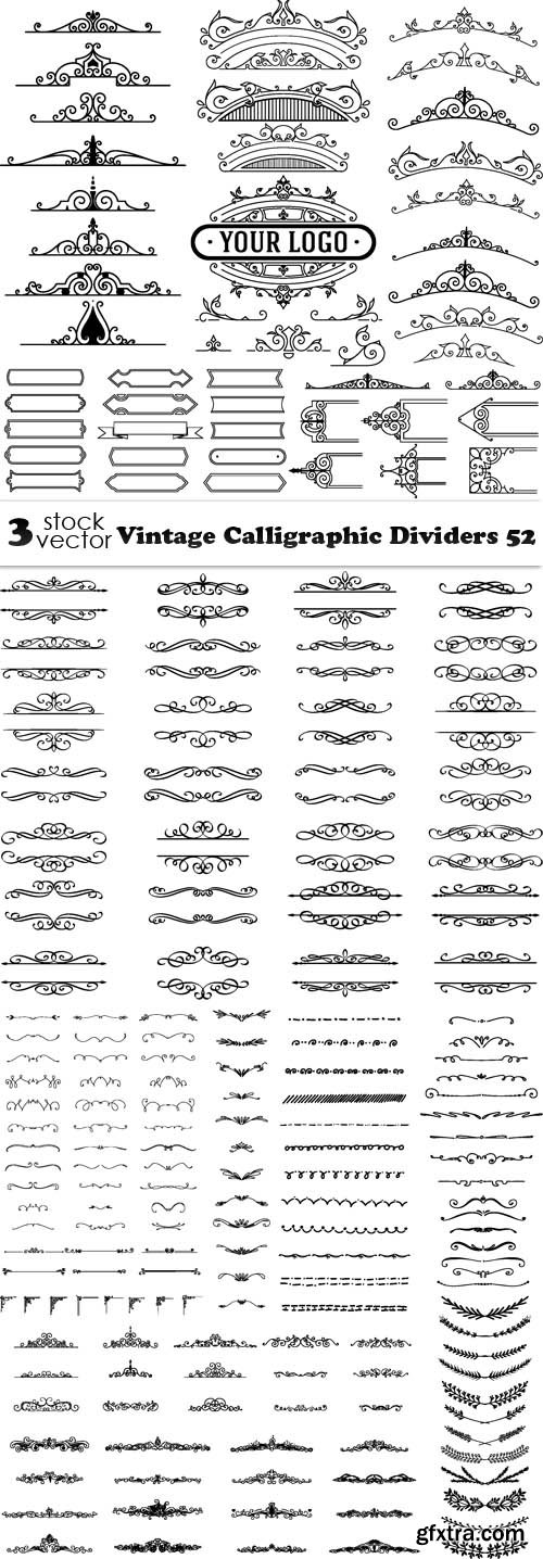 Vectors - Vintage Calligraphic Dividers 52