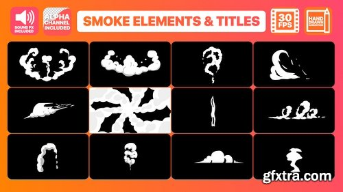 Videohive Hand Drawn Smoke Elements Transitions And Titles 22853380