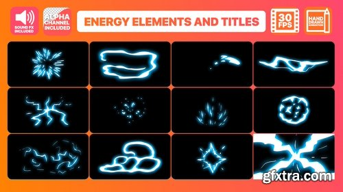 Videohive Energy Elements And Titles 22719833