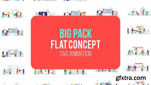 Videohive Big Pack Of Flat Concept 22843740