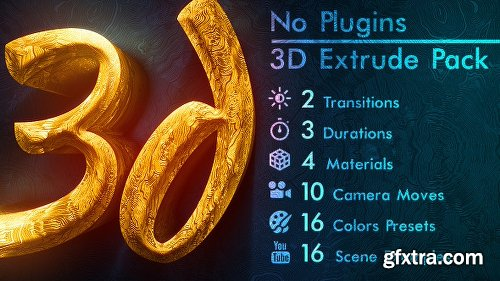 Videohive 3d Gold Titles and Logo NO PLUGINS 21488686