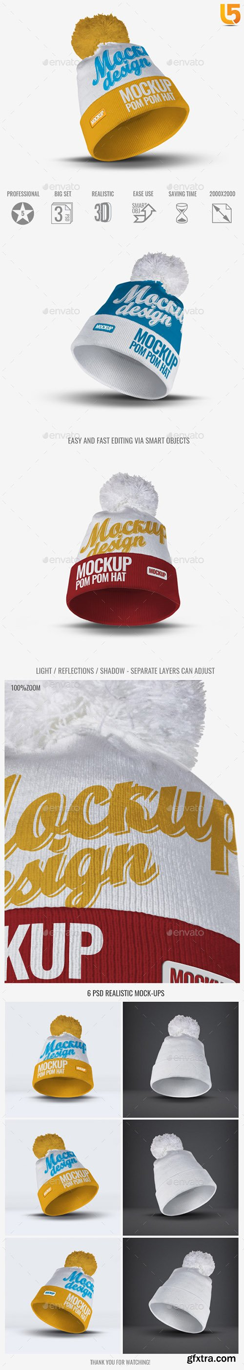 Pom Pom Hat Mock-Up 22966328