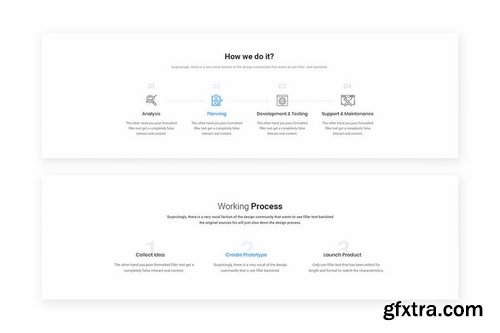 10 Process Steps Widget Design for Web-UI Kit