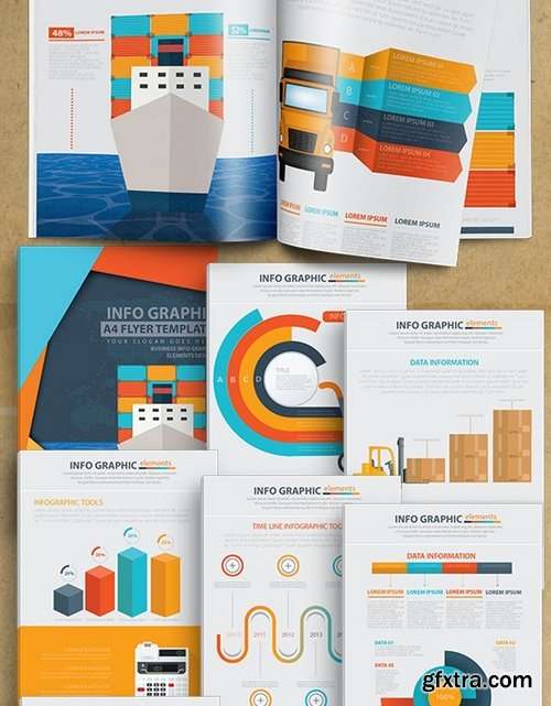 Cargo And Shipping Infographic 17 Pages Design