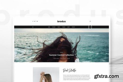 Brodus - Personal Blog Template for Instagrammers