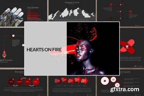 HEART ON FIRE Powerpoint