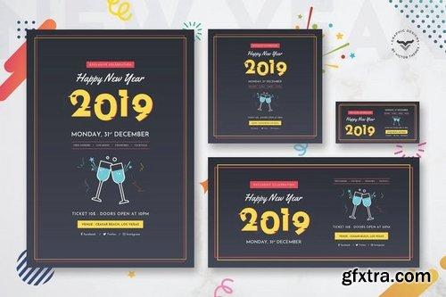 New Year Flyer & Social Media Pack