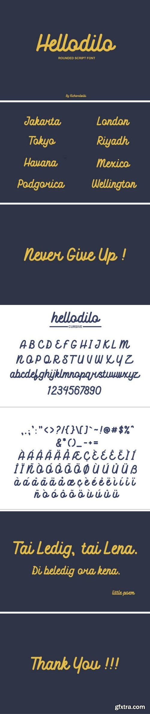 Hellodilo Font
