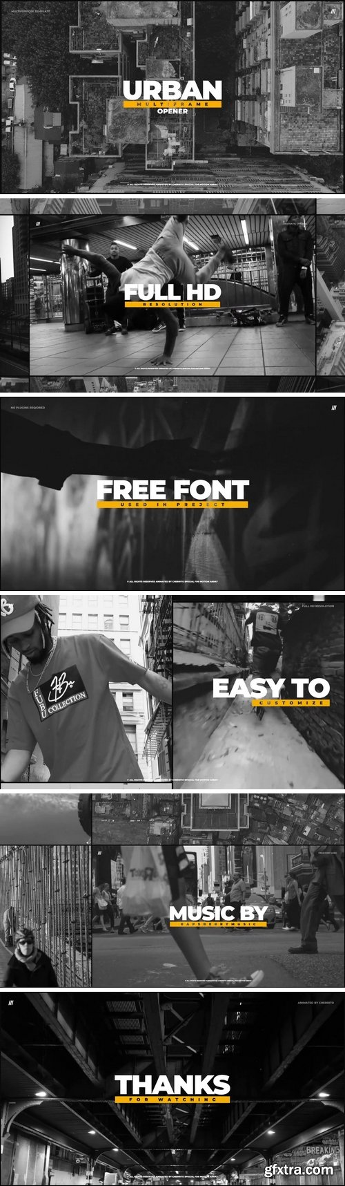 MA - Urban Multiframe Opener After Effects Templates 149125