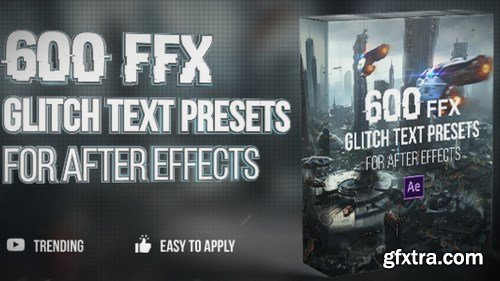 MA - 600 Glitch Text Presets After Effects Presets 149467
