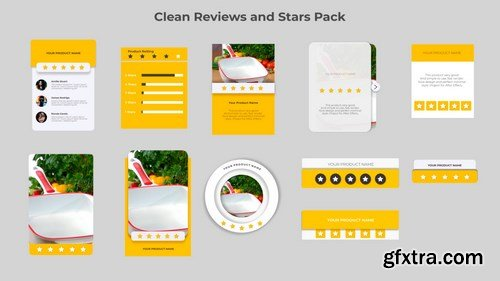 MA -  Clean Reviews And 5-Star Pack After Effects Templates 149789