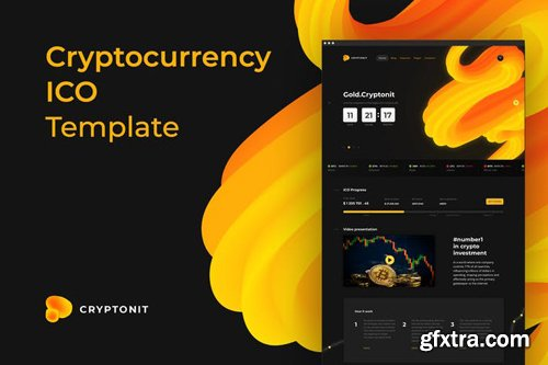 Cryptonit - ICO Sketch Template