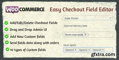 CodeCanyon - Woocommerce Easy Checkout Field Editor v1.7.0 - 9799777