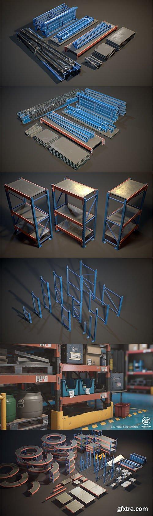 Cubebrush - Storage Rack Collection - [Modular]
