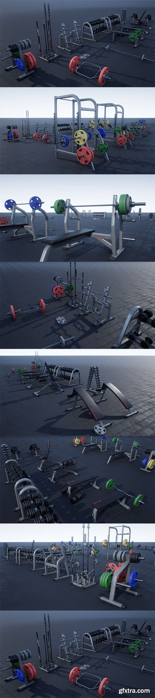 Cubebrush - Gym Props PACK 01