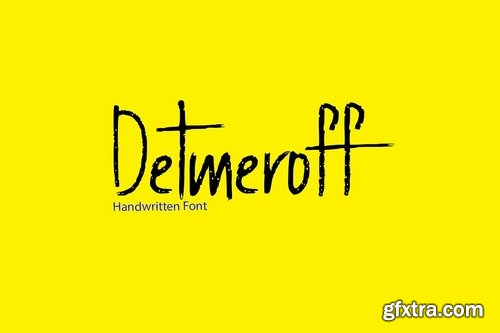CM - Detmeroff - Handwritten Display Font