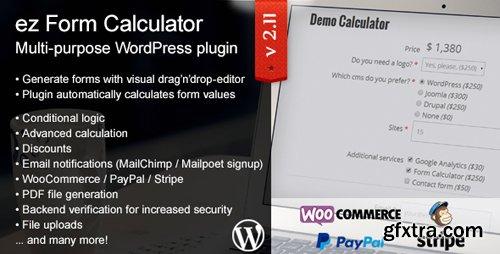 CodeCanyon - ez Form Calculator v2.11.0.1 - WordPress plugin - 7595334