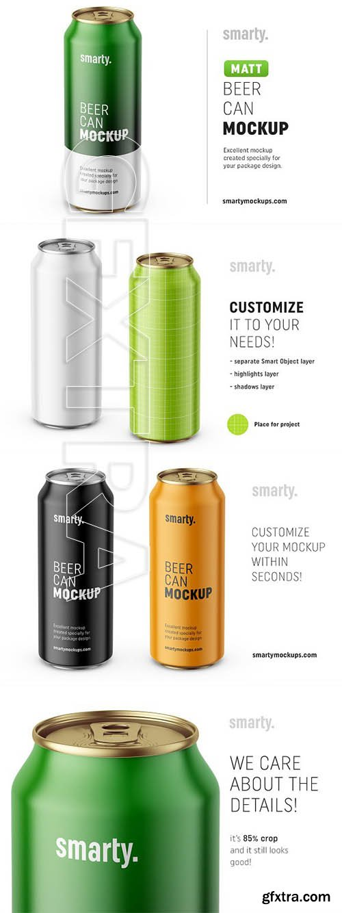CreativeMarket - Beer can mockup 3210550