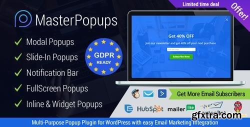 CodeCanyon - Master Popups v2.4.6 - WordPress Popup Plugin for Email Subscription - 20142807
