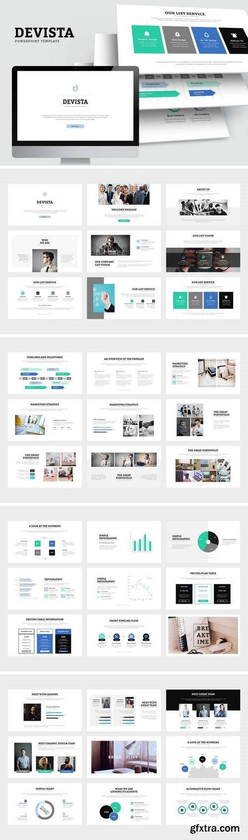 Devista : Startup Investor Pitch Deck Powerpoint