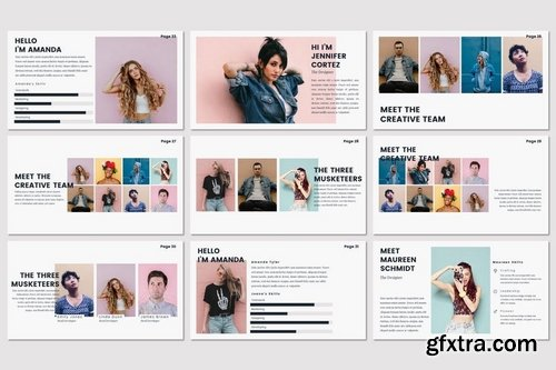 PASTEL - Powerpoint Keynote and Google Slides Templates
