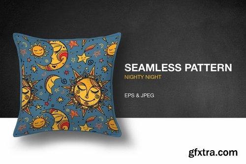 Nighty Night Seamless Pattern