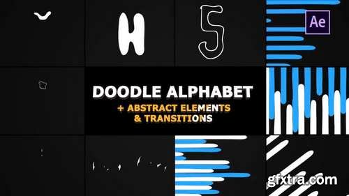 MA - Doodle Alphabet And Transitions After Effects Templates 58998