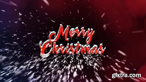 MA - Snow-tipped Merry Christmas Text Stock Motion Graphics 149670
