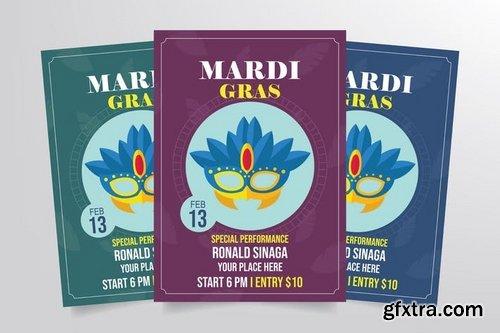 Mardi Gras Flyer Template Vol 2